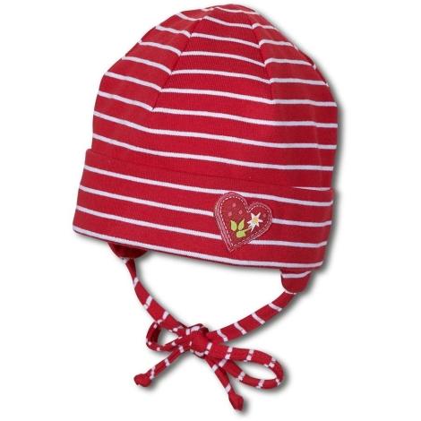STERNTALER Čepice červená s proužkem