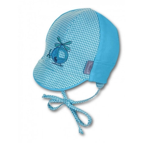 STERNTALER Čepice s kšiltem letní azur