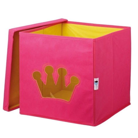 STORE IT Box na hračky s okénkem korunka