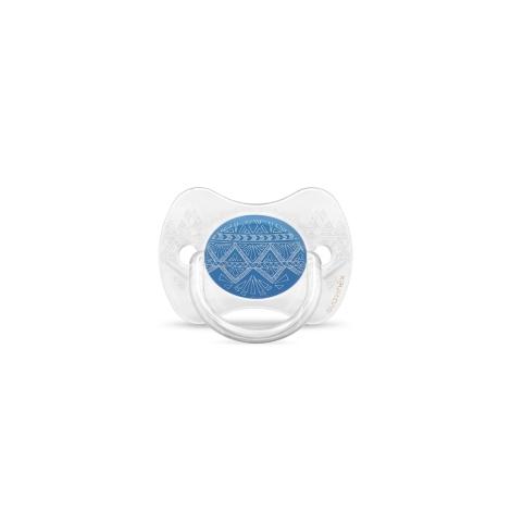SUAVINEX Couture Fyziologický dudlík silikon 0-4m Dark Blue