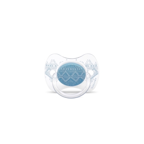 SUAVINEX Couture Fyziologický dudlík silikon 0-4m Light Blue