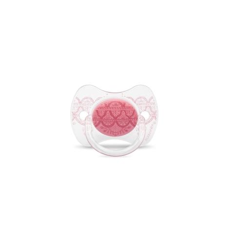SUAVINEX Couture Fyziologický dudlík silikon 0-4m Pink