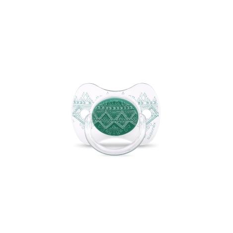 SUAVINEX Couture Fyziologický dudlík silikon +18m Green