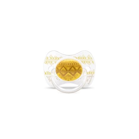 SUAVINEX Couture Fyziologický dudlík silikon +18m Yellow