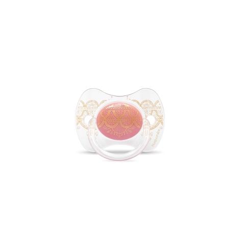 SUAVINEX Couture Fyziologický dudlík silikon 4-18m Pink
