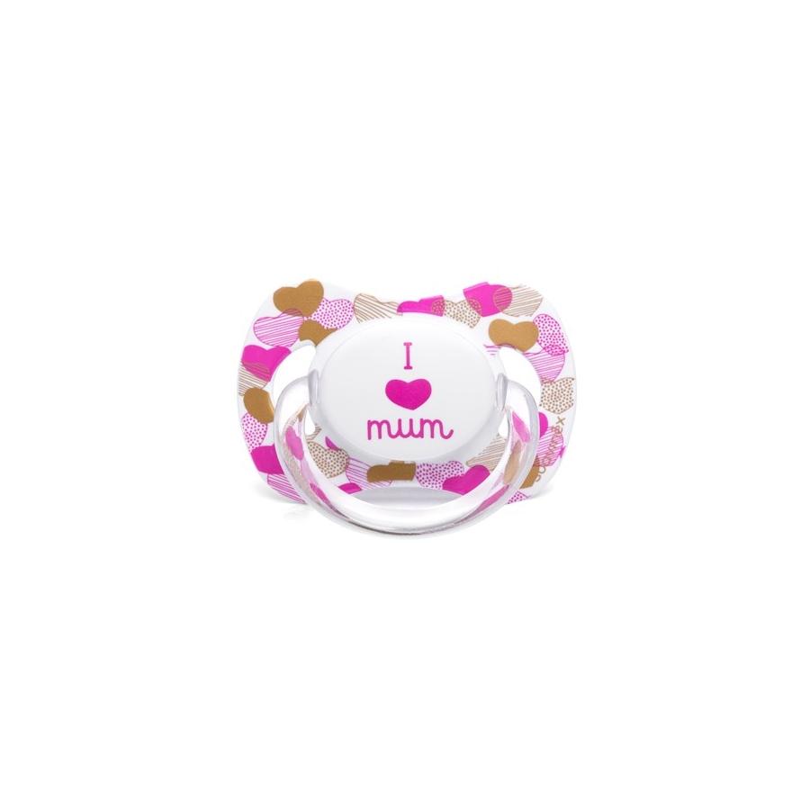 0571b4bee3e SUAVINEX šidítko I love Mum růžové