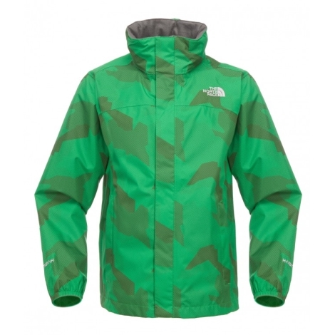 THE NORTH FACE Boys Printed Resolve Jacket Arden Green vel.XS