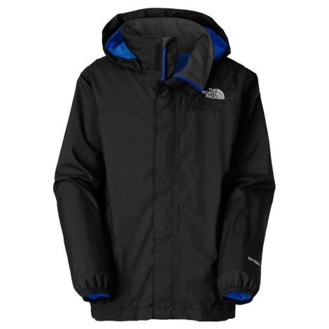 THE NORTH FACE Boys Resolve Jacket Black,Nautical Blue vel. XS