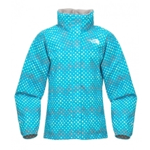 THE NORTH FACE Girls Dottie Resolve Jacket Turquoise Blue Print