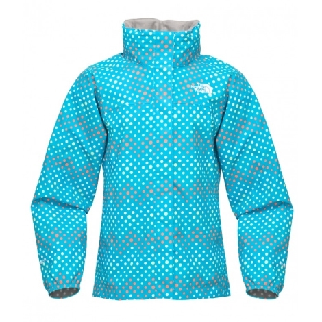 THE NORTH FACE Girls Dottie Resolve Jacket Turquoise Blue Print vel.XS
