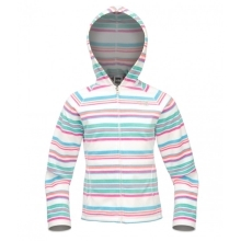 THE NORTH FACE Girls Glacier Striped Full Zip Fl. TNF White