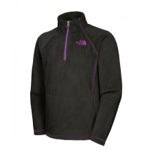 THE NORTH FACE Girls Mossbud 1/4 Zip Black/Pixie Purple