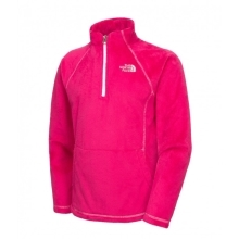 THE NORTH FACE Girls Mossbud 1/4 Zip Passion Pink