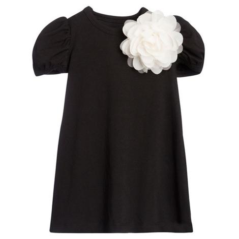 THE TINY UNIVERSE Šaty The Tiny Flower All Black 80