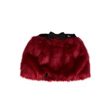 THE TINY UNIVERSE Sukně The Tiny Skirt Fur Real Red