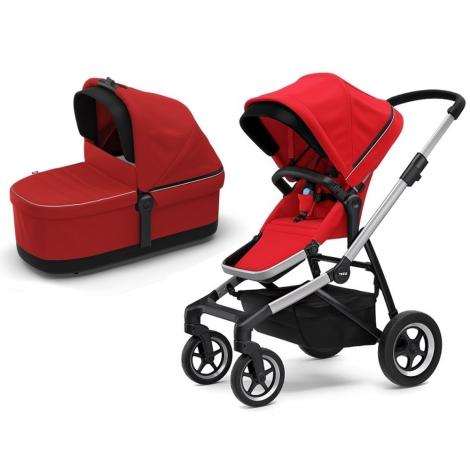 THULE Sleek Kompletní kočárek Energy Red + Přebalovací taška Energy Red