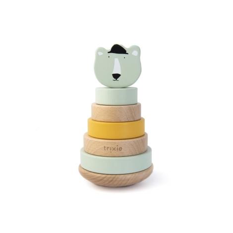 TRIXIE Dřevěné navlékací kroužky Mr. Polar Bear