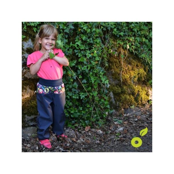 UNUO Dětské softshellové kalhoty s fleecem černé vel. 98-104 slim ... 85dc0fb3c4