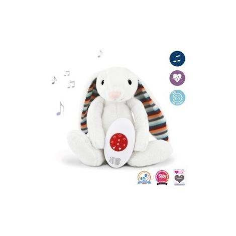 ZAZU Králíček Bibi Šumící zvířátko s tlukotem srdce a melodiemi