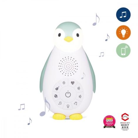 ZAZU Musicbox s bezdrátovým reproduktorem Tučňák Zoe modrý