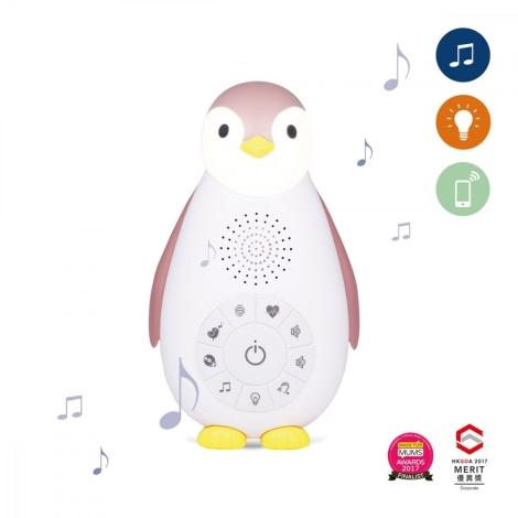 ZAZU Musicbox s bezdrátovým reproduktorem Tučňák Zoe růžový