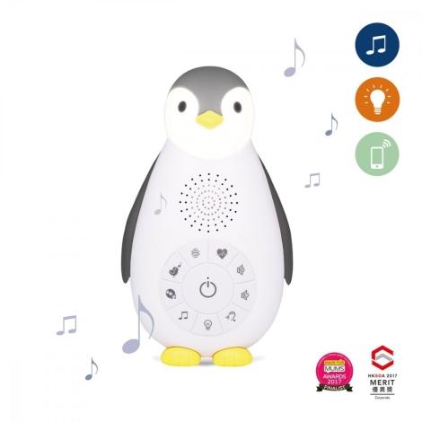 ZAZU Musicbox s bezdrátovým reproduktorem Tučňák Zoe šedý