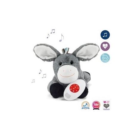 ZAZU Šumící zvířátko s tlukotem srdce a melodiemi Oslík Don
